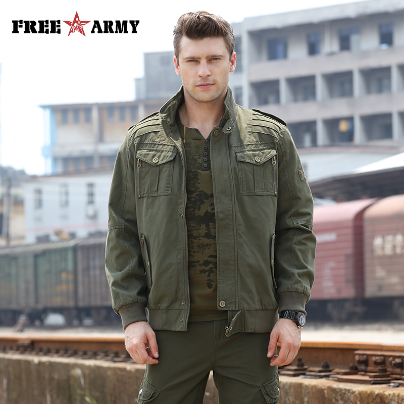 Fashion Army Green Jackets Men Military Clothing Men Bomber Jackets Camo Jacket Male Designer