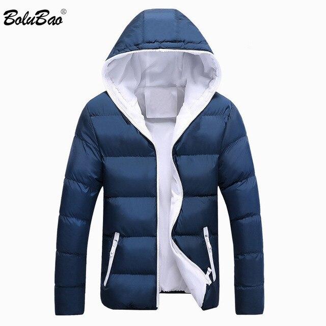Bolubao casaco masculino moderno e casual, jaqueta masculina, cor sólida, simples, com capuz, moda de inverno