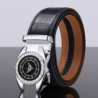 Cow genuine leather luxury strap male belts for men new fashion classice Automatic buckle men belt High Quality