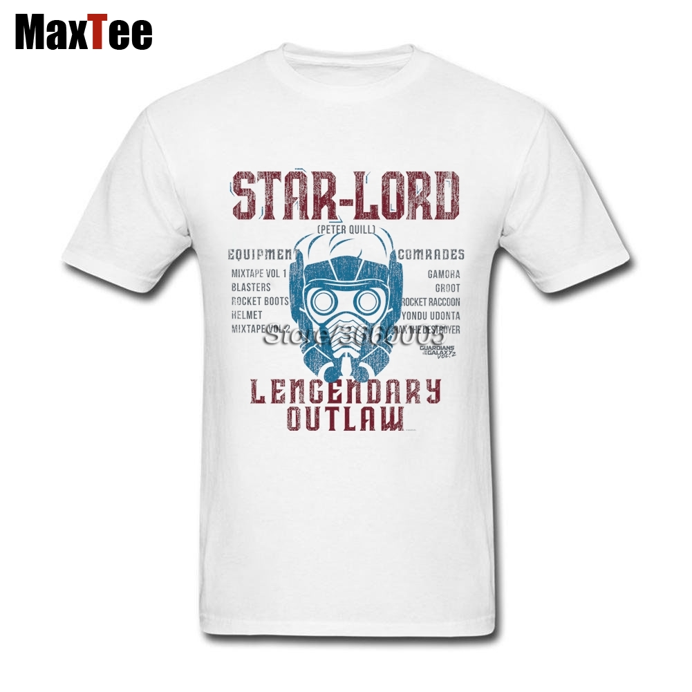 Peter Quill Star-Lord T-shirt Men Mans Cool Short Sleeve Crewneck Cotton Plus Size Couple Guardians Of The Galaxy Tshirts