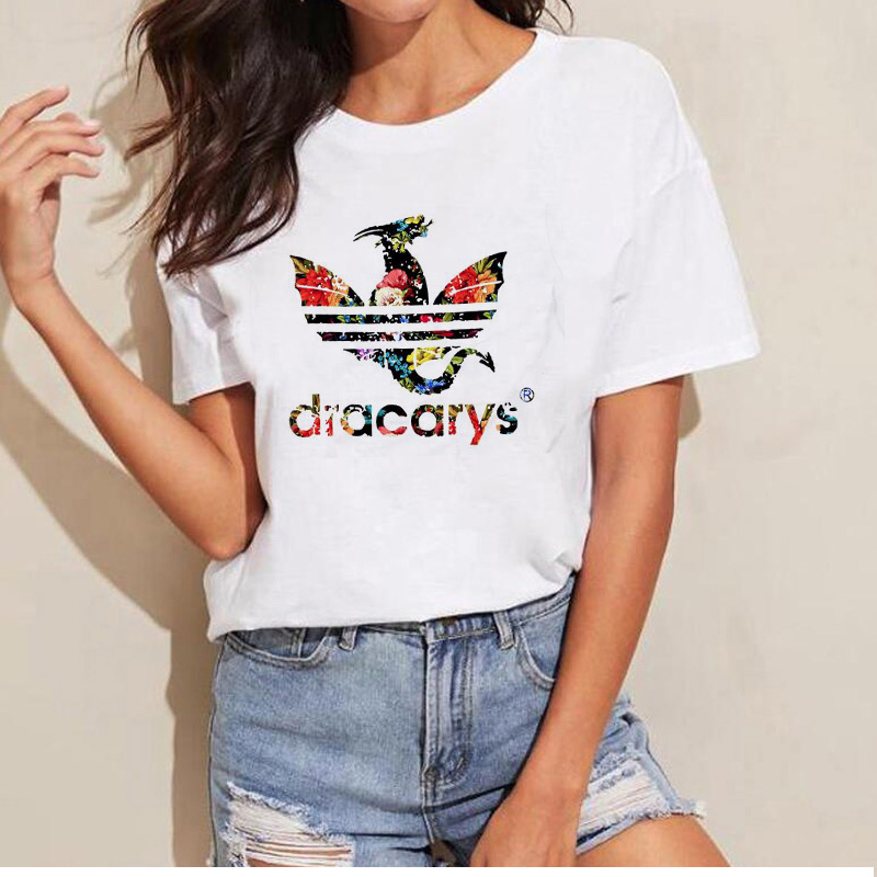 Dracarys-Dragon-T-Shirt-Mother-of-Dragons-Flower-T-Shirt-Khaleesi-Mom-Shirts-for-Women-Harajuku (1)