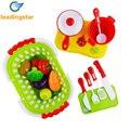 20 pçs/set comida de plástico de cozinha fruta vegetal corte toys crianças pretend play educação toys cozinheiro cosplay toys para chiledren