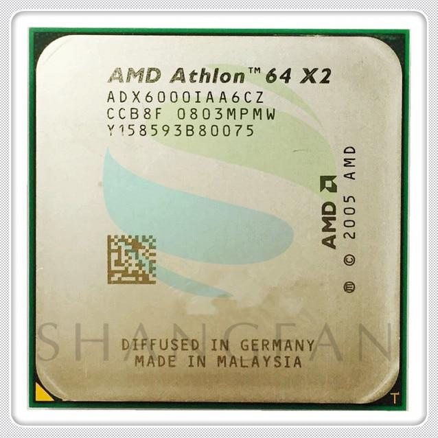 Frete grátis para AMD Athlon GHz ADX6000IAA6CZ X2 6000X2 6000 + 3 Dual-Core Processador CPU Soquete AM2 940pin