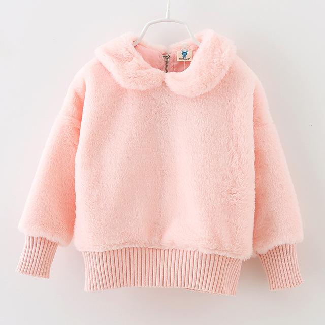 Nuevo, además de terciopelo invierno de los niños suéter de cachemira bebé niñas con capucha espesar los niños ropa de moda sudaderas con capucha sudaderas sudadera
