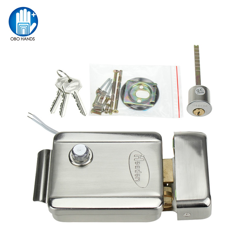 Access Control Electric Control Lock Dedicated Electronic Lock DC 12V NC Type Metal With Keys For Access Control System Kit