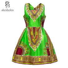 African Dresses For Women Dashiki Print Cotton Wax Fabric Traditional Clothes High Quality Plus Size