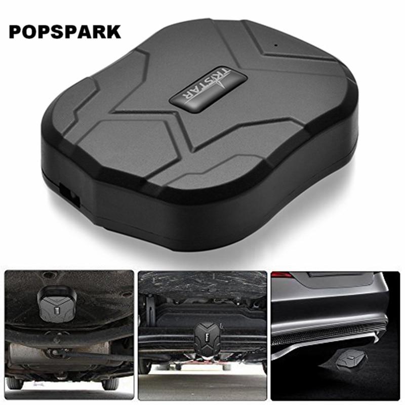 POPSPARK TK905 Mini Car GPS Tracker Locator for Car Vehicle Google Map 5000MAH Long Batt ...
