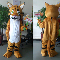 ohlees Wildcat Bobcat Mascot Costume Adult Size Outfit Plush Costumes Fancy Dress real actual picture