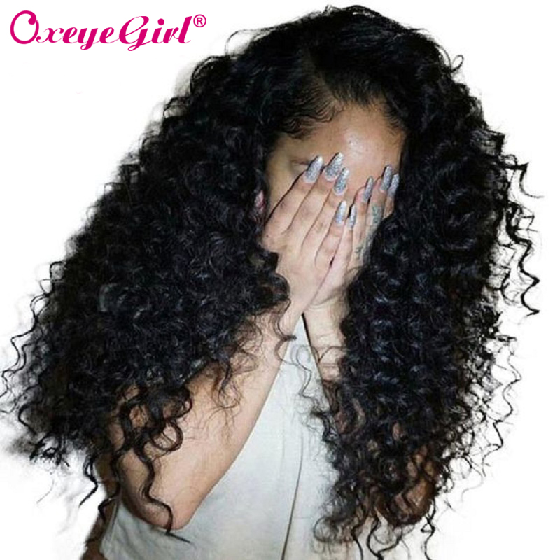 Lace Front Human Hair Parykker Med Baby Hair Deep Wave Paryk Brazilian Hair For Women Sort Paryk Remy Hair Lace Paryk Lang Oxeye Girl
