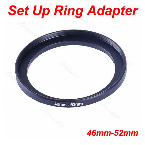 1Pc Metal 46mm-52mm Step Up Lens Filter Ring 46-52 mm 46 to 52 Stepping Adapter