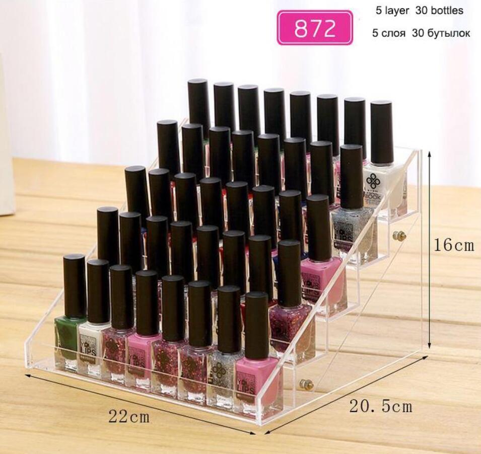 Transparent Nagellack Display Rack Abnehmbare Acryl Kosmetische ...
