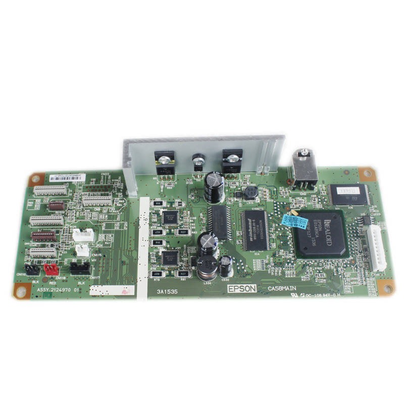 USED  PCA ASSY Formatter Board logic Main Board MainBoard mother board for Epson L1300 ME1100 T1100 T1110 B1100 W1100 1100 formatter main board mainboard for epson tm t88v label printer