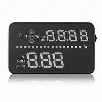 3.5 นิ้ว Headup จอแสดงผลสมาร์ท HUD รถยนต์ระบบติดตั้ง Head Up speedometer แรงดันไฟฟ้า ometer นาฬิกาวัดระยะทาง