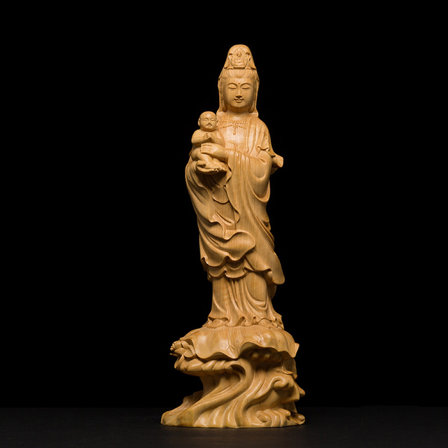 80a2f3cf6d96 2017 hot sale Wood carving Buddha statue God Gift solid wood craft Feng  shui Decoration wood carving Buddha Figurine Miniature