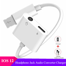 2 in 1 Audio Charging Adapter for iPhone X Xs Xr 8 7 Plus iOS 12 Systems 3.5mm Headphone Jack AUX Audio Charger Lighting Adapter belden 6500fe unreeled pkg 1000ft natural commercial audio systems 2c
