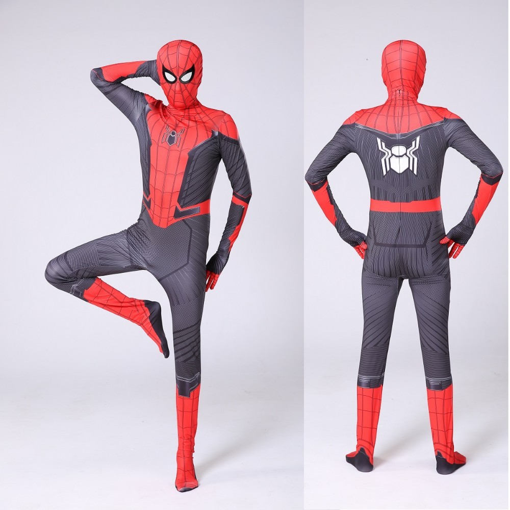 SpiderMan Far From Home Spider-man Zentai Child Kids Boys Cosplay Costume Cloth