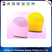 silicone facial cleansing brush for electric facial brush with Vibration