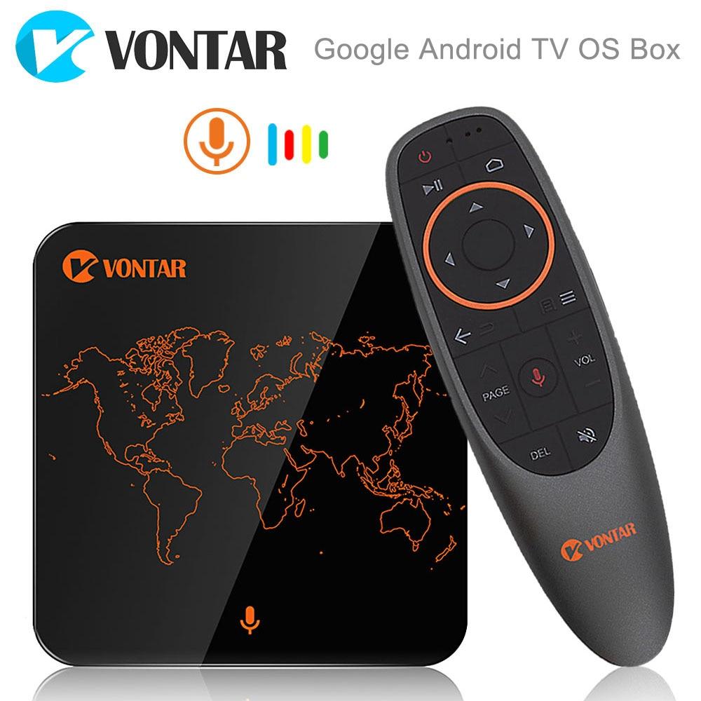 2018 VONTAR V1 Controllo Vocale di Google Smart TV BOX Android 7.1 Amlogic S905W 2 gb 16 gb In Streaming Google Play netflix PK X96 mini