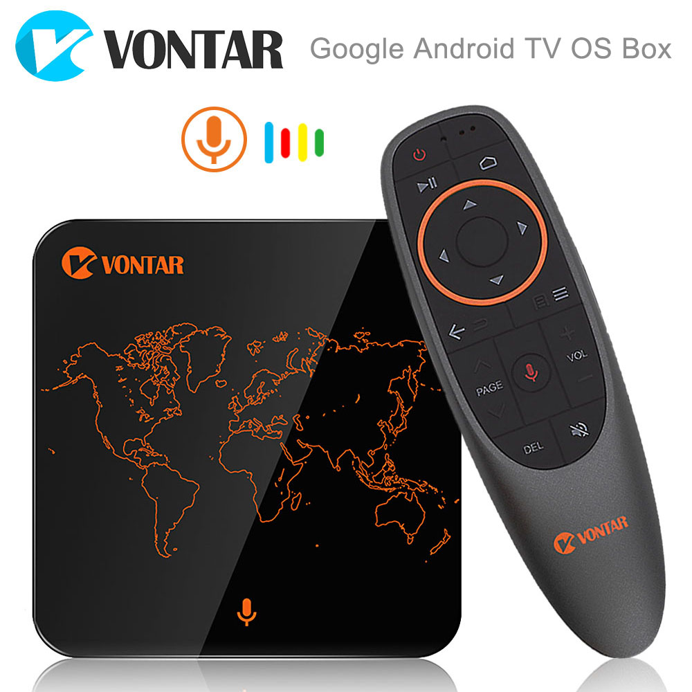 2018 VONTAR V1 Google Voice Управление Smart ТВ коробка Android 7,1 Amlogic S905W 2 ГБ 16 ГБ потокового Google Play netflix PK X96 мини
