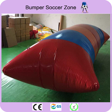 Free Shipping 6*2m 0.9mm PVC Water Catapult Blob Inflatable Blob Jumping Water Blob Jump/Water Pillow Inflatable Jumping Air Bag