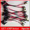 Free Shipping xenon HID and ballast connector AMP-KET cable 10pcs/lot