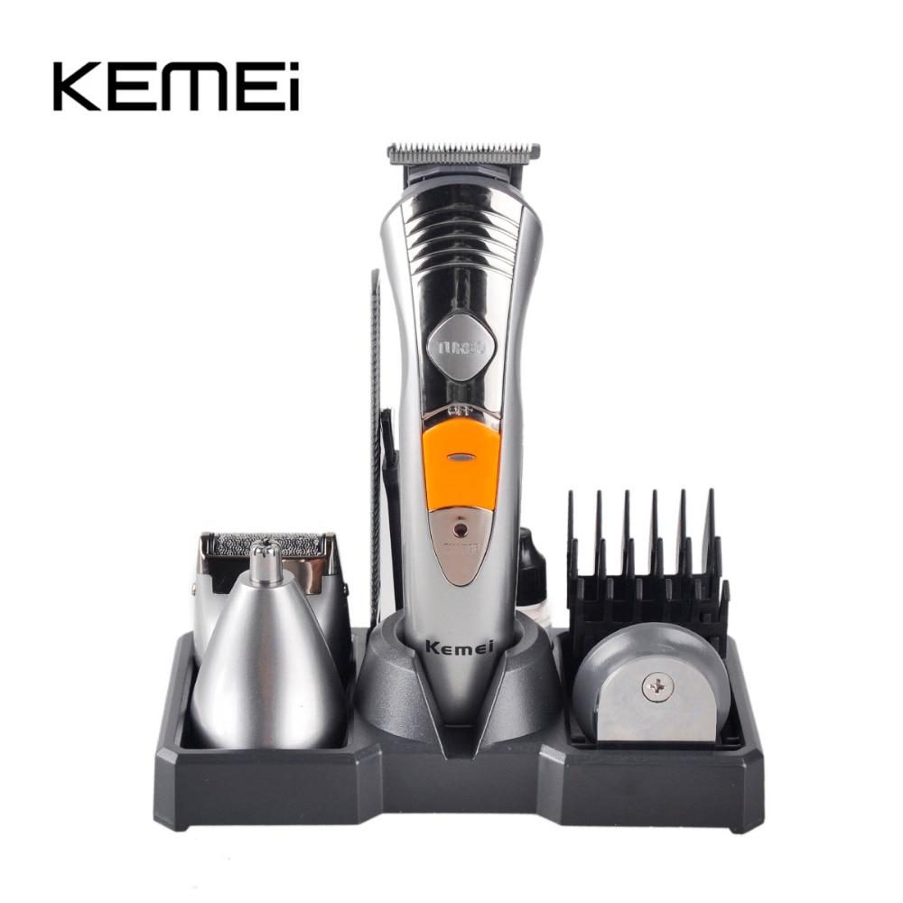 KEMEI 7 In 1 Professional Multinational Hair Clipper Razor Shaver Kodumajapidamises kasutatavad laetavad juukselõikusmasinad KM-580A raseerija