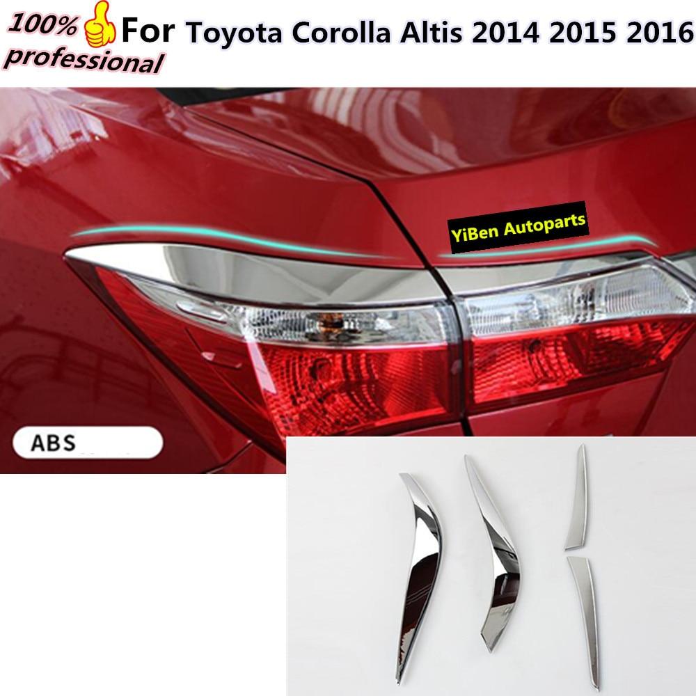 Car styling body rear tail back light lamp frame stick chrome abs cover trim panel 4pcs