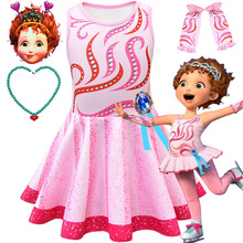 2019 new fancy nancy beautiful Nancy Cosplay dress children's skating suit girls show costume fancy nancy nancy clancy seeks a fortune