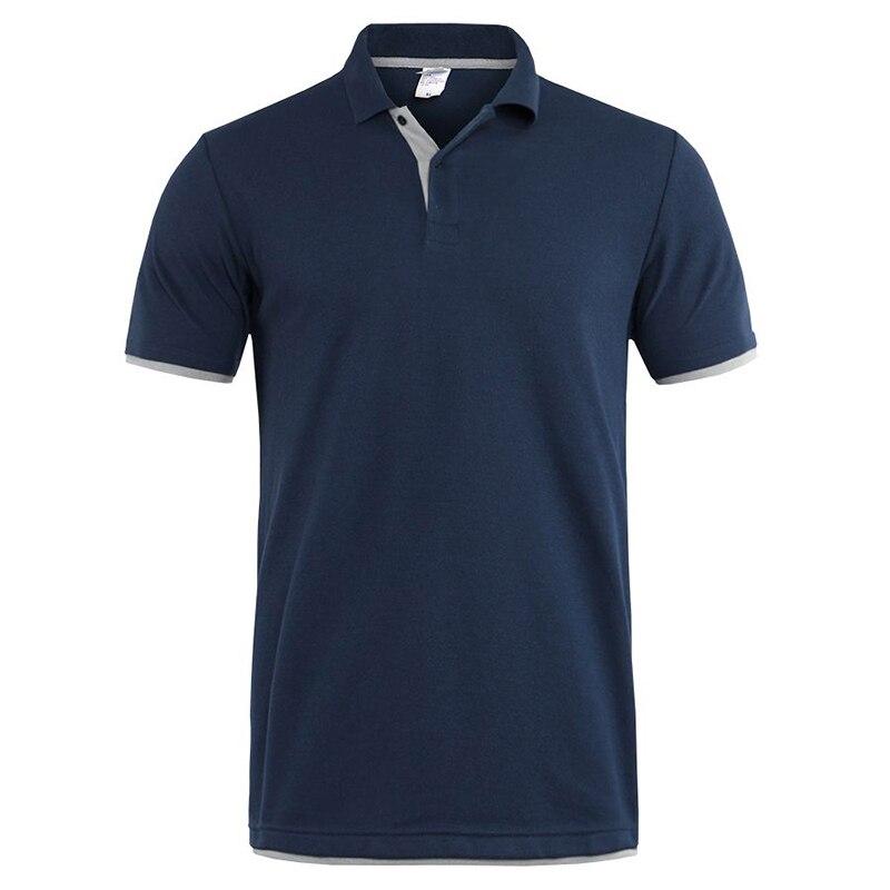 Men's   Polo   Shirt New 2019 Summer Short Sleeve Jerseys Golftennis Shirt Men Black Cotton   Polo   shirt Plus Size XS-3XL