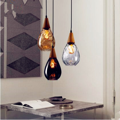 IWHD Nordic Glass Ball LED Pendant Light Fixtures Dinning Living Room Lampe Hanging Lights Vintage Lamp Lamparas Colgantes