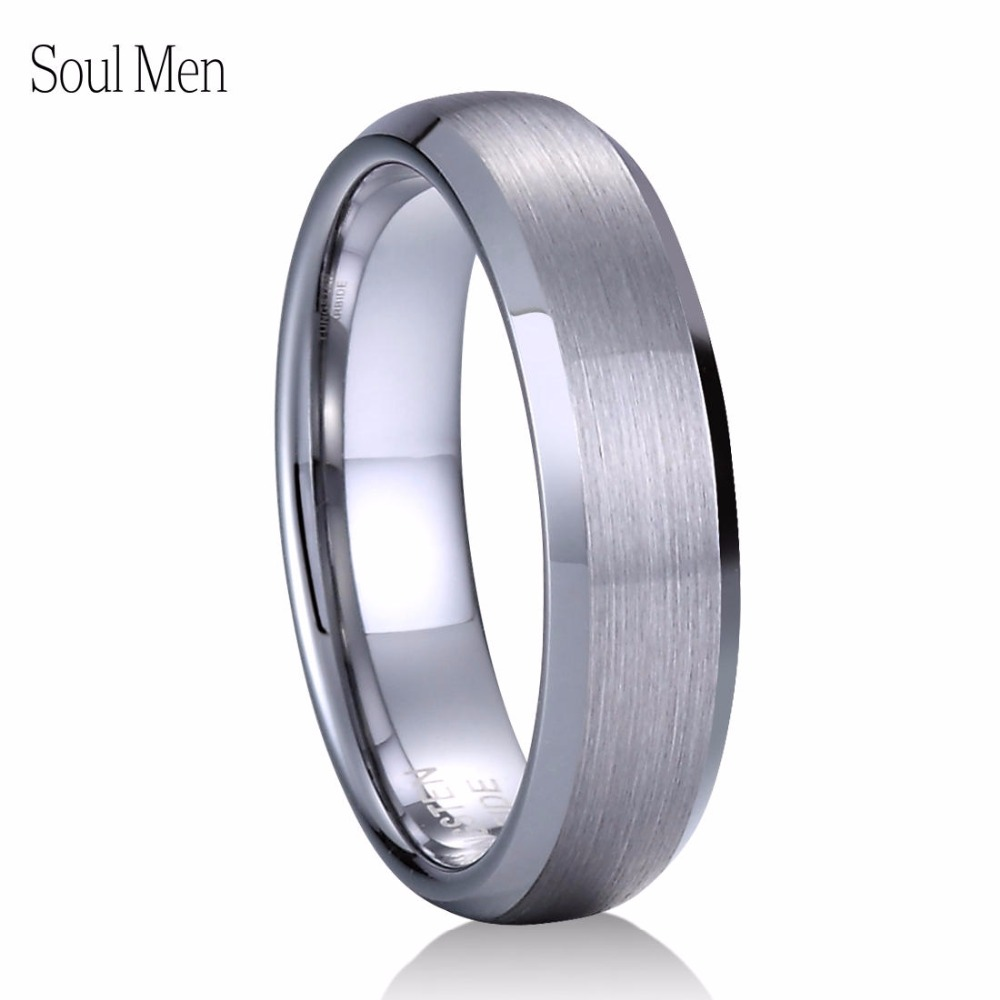 a599b8f710850 US $13.11 5% OFF|6mm Silver Matte Dome Tungsten Ring Classic Wedding  Engagement Band for Women Girl US Size 6 to 12-in Wedding Bands from  Jewelry & ...