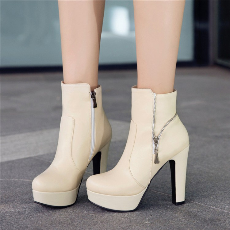 Big Size11 12 13 14 15 16 17 18 19Bucket fashion boots with round head, thick heel and high heel side zipper waterproof platformBig Size11 12 13 14 15 16 17 18 19Bucket fashion boots with round head, thick heel and high heel side zipper waterproof platform