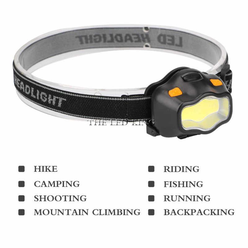 Mini lampe frontale 3 Mode étanche 900Lm COB lampe de poche Super lumineux phare phare torche lanterne utilisation AAA batterie