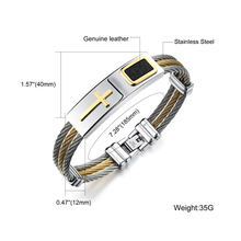 Men's Christian Jewelry Stainless Steel Bracelet