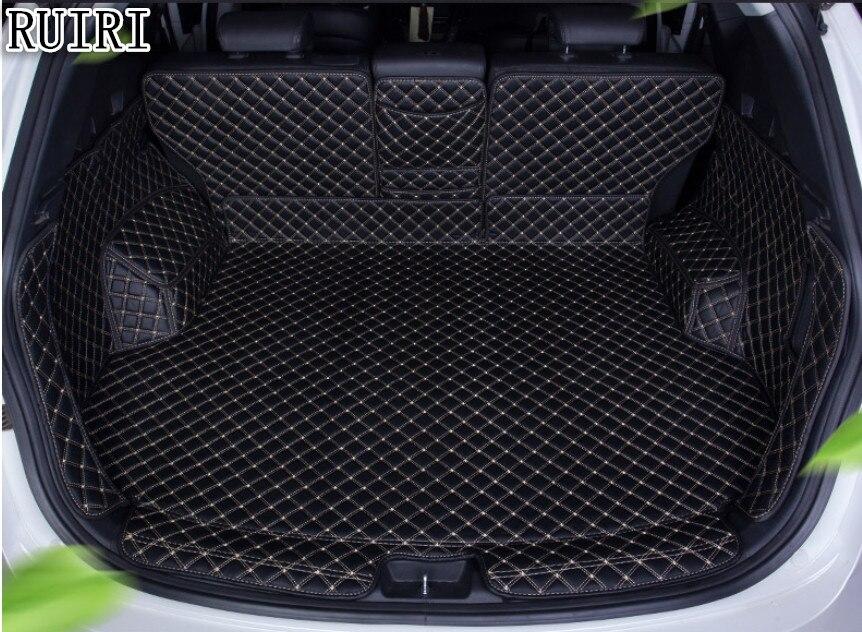 Di alta qualità! Tappeti bagagliaio di un'auto speciale per Hyundai Santa fe 5 sedili 2017-2013 resistente boot tappeti cargo liner mat per santa fe 2016