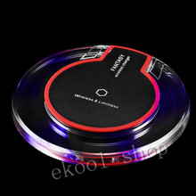 Fantasy Crystal black 100% QI Wireless Charger Charging Pad for Samsung GalaxyS7/ S6/S6 edge/S6 edge+ For Google Nexus 4/5