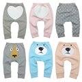 Штаны для маленьких девочек и мальчиков; спортивные брюки; брюки из 100% хлопка; Одежда для младенцев с героями мультфильмов; 6-24 месяца - фото