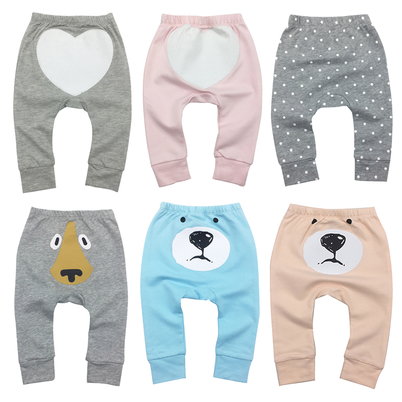 Baby Girl Boy Pants Spodnie Pantolon Trousers 100%Cotton Cartoon Infant Clothes 6-24 Months