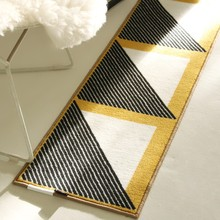 Collalily Nordic Living room Carpet Geometric Indian Morocco Rug plaid striped  Kitchen Mat Bedside Area Rugs modern yellow