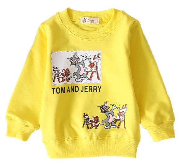 boys t-shirt Children T shirt Baby Girl Long sleeve clothes kids cartoon cotton sweater Cartoon Tom and Jerry T-shirt 6-24month