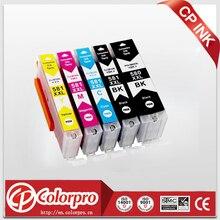 Cartouches dencre, 5PK, pour Canon Pixma, TR7550, TR8550, TS6150, TS6151, TS8150, TS8151, TS8152, TS9150, TS9155, Compatible avec PGI 580, CLI 581 XXL