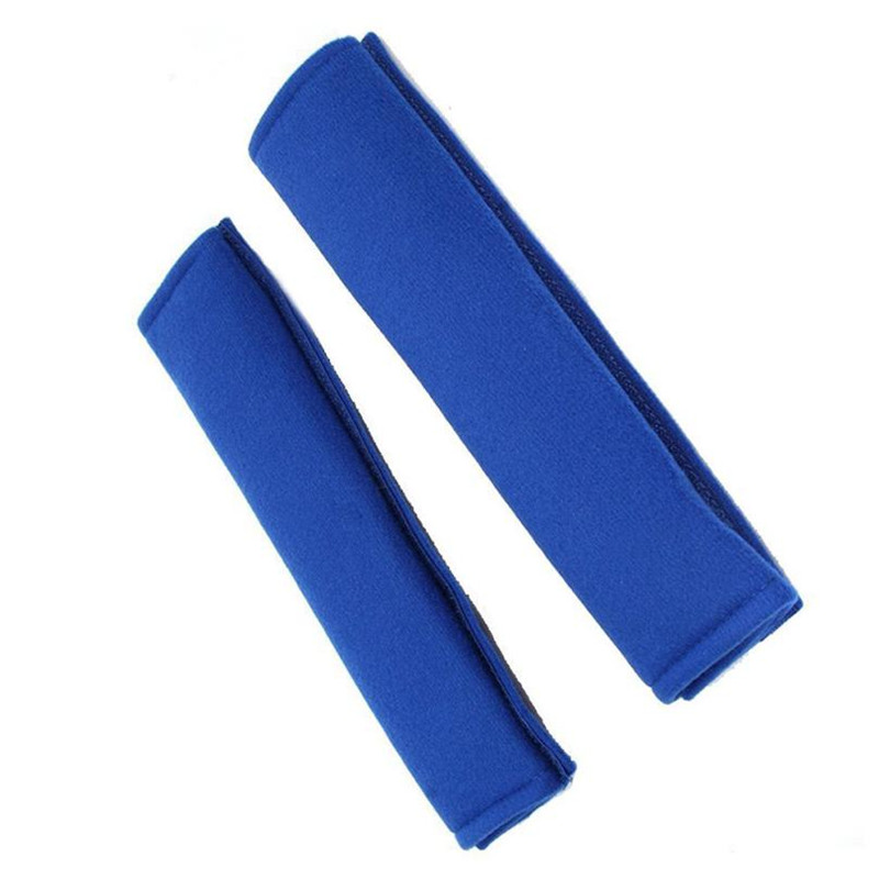 Car-styling AUTO 2 pcs Car Safety Seatbelt Shoulder Pads Shoulder Cushions Car Seatbelt Pads (Blue) August7