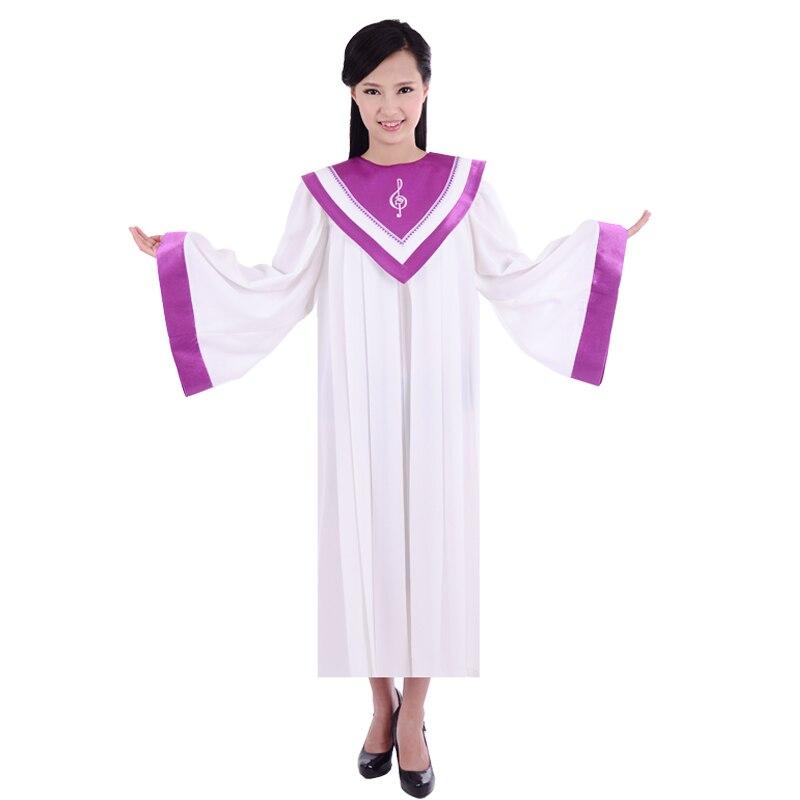 Kristlik kirikulaul laulab Robe kleit rõivaste rõivaste naiste kristlike kvaliteetsete kleit-hommikumantli kostüümid