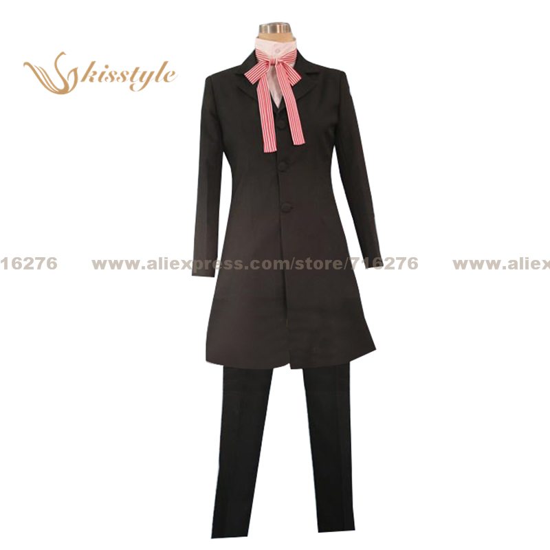 Kisstyle Fashion Black Butler Grell Sutcliff Uniform Cloth Cosplay Costume,Customized Accepted