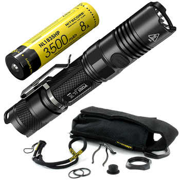 NITECORE P12GT 1000Lumen CREE XP-L HI V3 LED Tactical Flashlight with Rechargeable 18650 Battery 7 Mode Pocket EDC Free Shipping - Category 🛒 Lights & Lighting