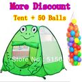 Child Gift Frog Child Tent+50 Ocean Balls Kids Game House 5.5 CM Wave Balls Indoor And Outdoor Play Tent ZP5004