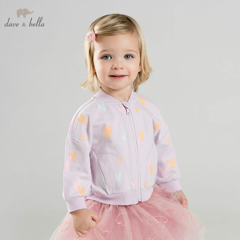 DBZ10102-1 dave bella spring baby girl lovely jacket children fashion outerwear kids printed coatDBZ10102-1 dave bella spring baby girl lovely jacket children fashion outerwear kids printed coat