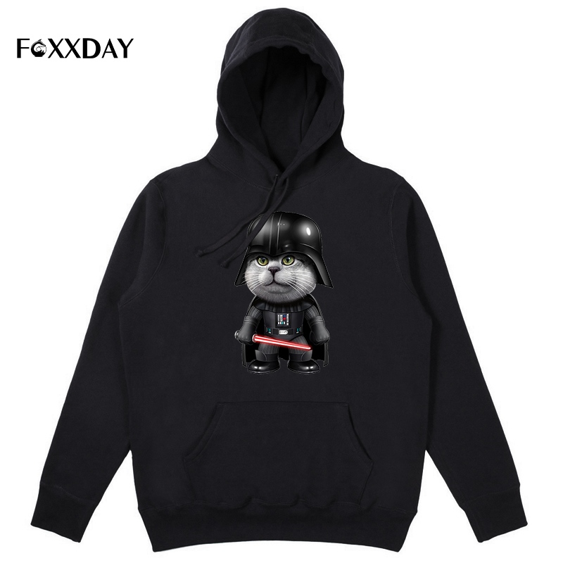 Men's hoodie Darth Vader Cat hoody Darth Meow Funny Star Wars hoodies sweatshirts Long Sleeve new arrivals high quality