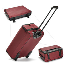 Wholesale!20 inches high quality student canvas travel luggage bags,foldable travel luggage bags on wheels with rods,cheap price