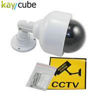 Outdoor Waterproof Red LED Fake Dummy PTZ Speed Dome CCTV Security Camera Blinking Flashing Light Dummy